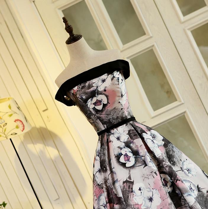 VENSANAC 2017 New A Line Flowers Sjerpen Strapless Lange avondjurken - Jurken voor bijzondere gelegenheden - Foto 5