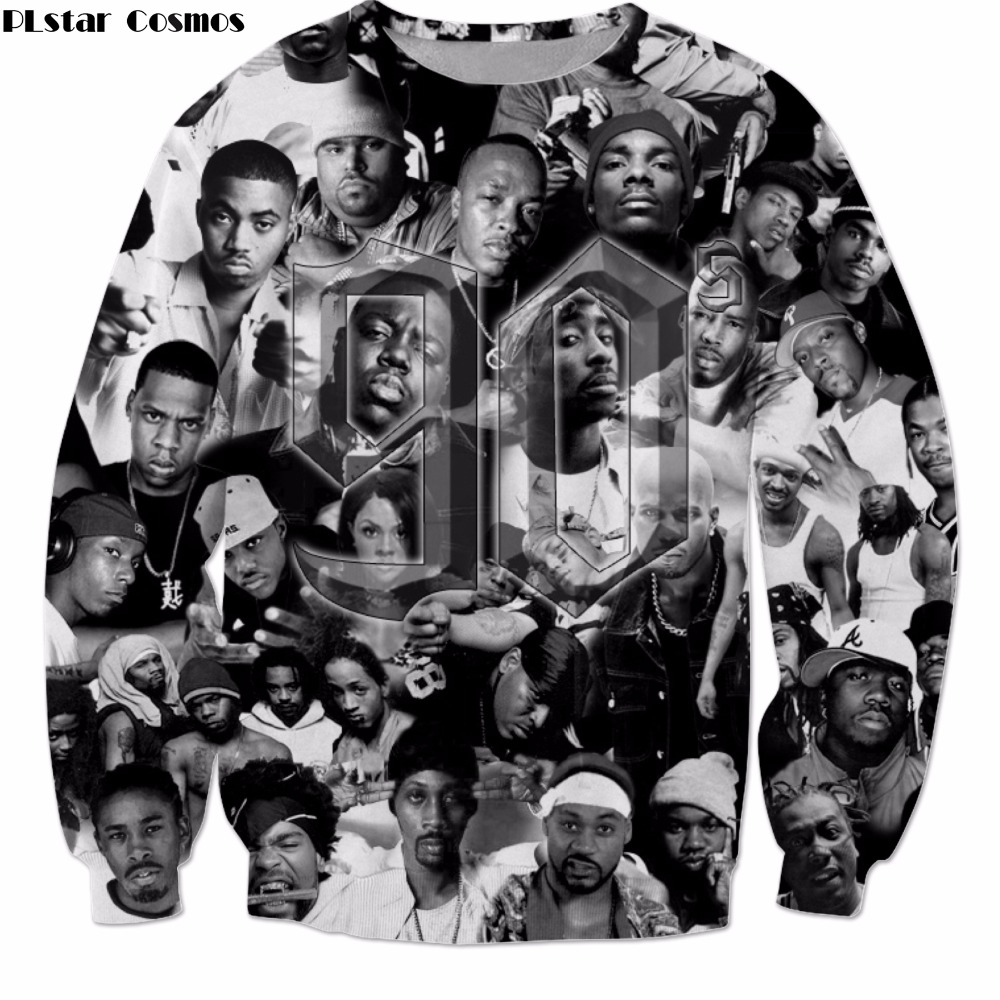 PLstar Cosmos 2019 New Fashion Long Sleeve Outerwear Hip-hop Singer 2pac Tupac Print 3d Sweatshirt Unisex Casual Pullovers