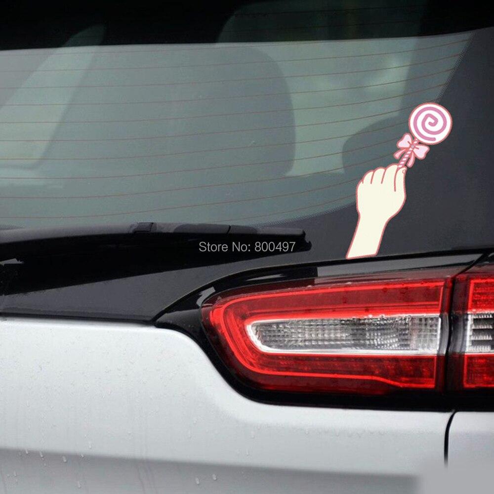 10 х Творческий смешно стайлинга автомобилей принимая Lollipop арбуз пива Камера автомобиля Наклейка для Volkswagen VW Форд Toyota Peugeot renaut