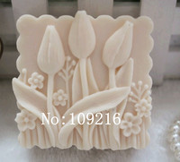 Wholesale 1pcs small tulips zx71 silicone handmade soap mold crafts diy mould.jpg 200x200