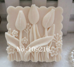 Wholesale 1pcs small tulips zx71 silicone handmade soap mold crafts diy mould.jpg 250x250