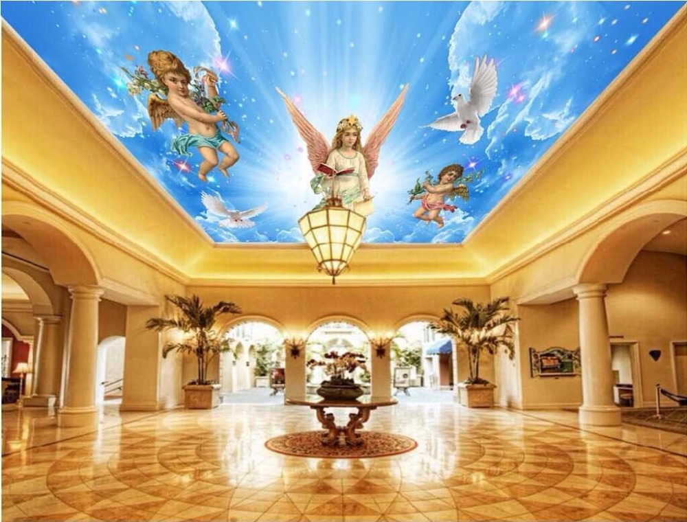 3d Ceiling Murals Wallpaper Custom Photo Non Woven Room 3d