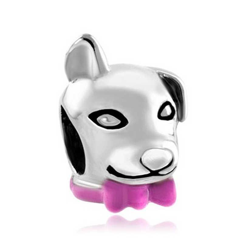 จัดส่งฟรีสุนัข Beagle สัตว์เลี้ยงเยอรมัน Bulldog Charm สร้อยข้อมือ pandora letter