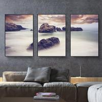 2018 New Modern Living Room Beach Landscape Triptych Diamond Paintings Full Drilling Simple Bedroom Diamond Painting