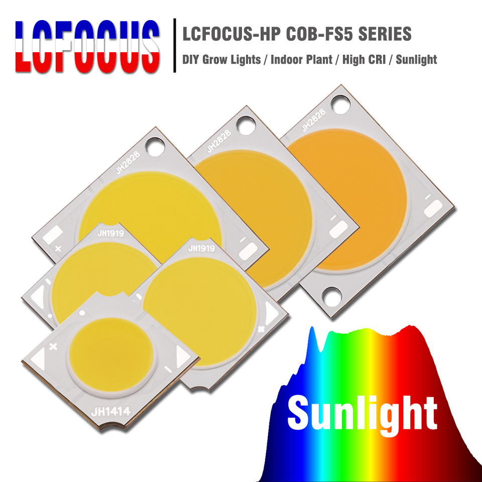 10W 20W 30W 50W 100W Grow COB LED Chip Full Spectrum Of Sun Diy Grow Light For Indoor Hydroponics Plant Vegetable Growing
