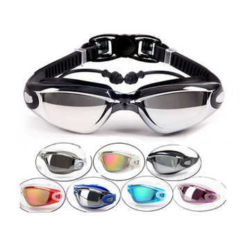 Optical Swimming Goggles Men Women Myopia Pool Earplug Professional Waterproof Swim Eyewear Prescription Adult Diving Glasses