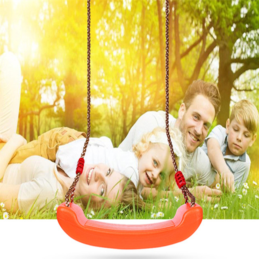 Toy Swings Children Indoor Outdoor Patio Swings Belt Seat Toys Plastic Garden Tree Swing Rope Seat Molded Kids Hanging Playground Swing Toy Attractive Designs;
