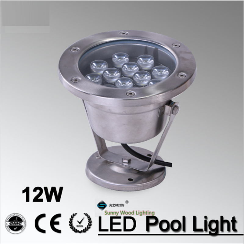 цена на 24V AC underwater lights Free shipping IP68 LED fountain light 12W pool light waterproof swimming pool light LPL-A-12W-24V