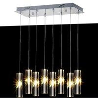 Столовая лампа бар кофейня прямоугольные светодиодные Кристалл подвеска лампа выставочный зал ювелирный магазин привело Хрустальные подв