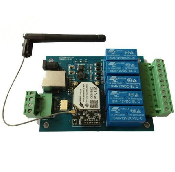 5 channels wifi modules electronic circuit board receiving antenna5 channels wifi modules electronic circuit board receiving antenna mobile control relay switch mobilephone remote control relay