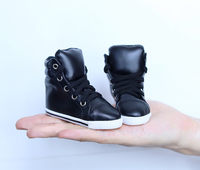 BJD doll shoes high leather shoes black leisure shoes suitable for 1/3 BJD SD DD Uncle doll leather shoes doll accessories