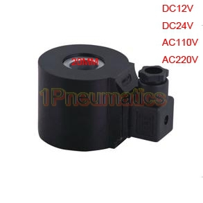 Free Shipping DIN43650A Plug Connector Solenoid 20mm Hole 55mm Height Coil DIN masterfire wholesale 100% original lgdbhe41865 2500mah he4 battery 18650 3 7v power electronic batteries 20a discharge for lg