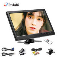 """Podofo 10.1"""" LCD HD Monitor Mini TV & Computer Display Color Screen 2 Channel Video Input Security Monitor With Speaker HDMI AV"""