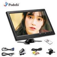 "Podofo 10,1 ""LCD HD Monitor Mini TV & Computer-Display Farbe Bildschirm 2 Kanal Video Eingang Sicherheit Monitor Mit lautsprecher HDMI AV"