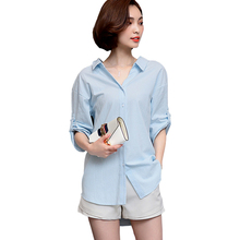 Women Tops And Blouses 2017 Half Batwing Sleeve Woman Shirt Back V-Neck Hoop Cotton Blouse Button Chemise Femme Blusas Femininas