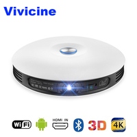 Vivicine Mini Wifi 3D Projector,HDMI USB PC 4K Full HD Home Theater Video Game Projectors 1080p Android Beamer