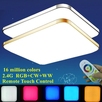 KINLAMS Living Room Colorful RGB+Cold White+Warm White 2.4G RF Remote Control LED Ceiling Light Dimmable Smart Ceiling Lamp