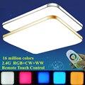 Moderne Wohnzimmer Bunte RGB + Kalt Weiß + Warm Weiß 2 4G RF Fernbedienung Led deckenleuchte Dimmbar smart Decke Lampe-in Deckenleuchten aus Licht & Beleuchtung bei