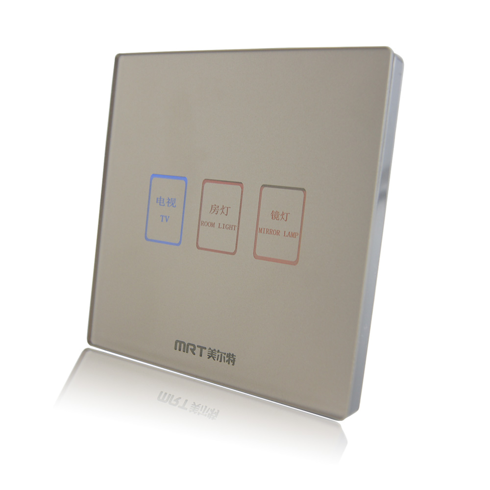 wholesale wall switch & socket plate 86 type electronic touch panel ...
