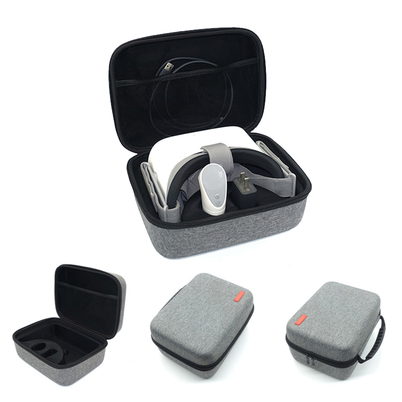Professional Travel Handheld Carrying Case For Oculus VR Glasses Go Remote Controller And All Accessories New Shockproof Hard