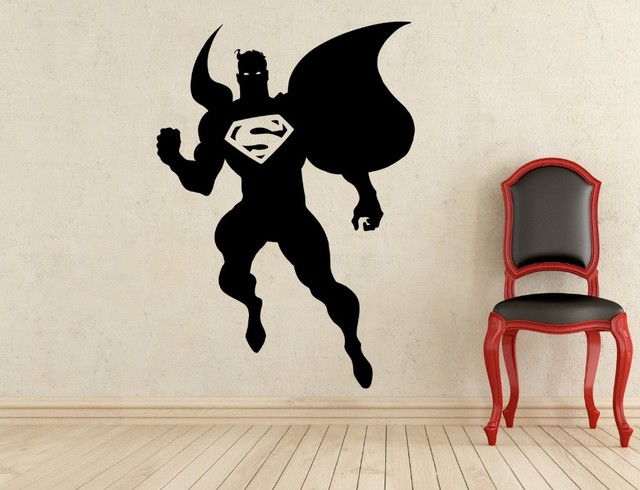 Comics Art Superman Wall Decal Superhero Sticker Home Decoration Any Room  Waterproof Removable Wall Stickers