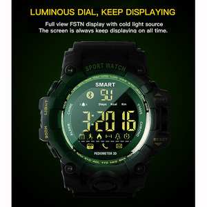 Image 4 - TimeOwner ساعة ذكية الرجال الإخطار عن التحكم مقياس الخطو الرياضة ووتش للماء الرجال ساعة اليد ساعة توقيت مكالمة SMS تذكير