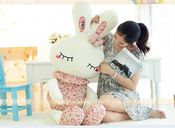 stuffed animal 120 cm cute love rabbit plush toy pink or  purple Floral love rabbit soft doll gift  w2226 hot 17cm janpanese animal plush toy alpaca vicugna pacos lama arpakasso alpacasso soft stuffed plush doll toy christmas gift