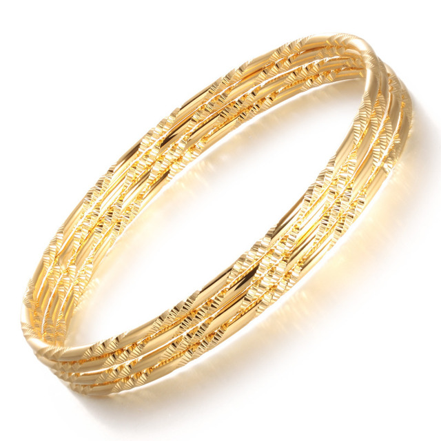 OPK Women Luxury Gold Color Bangles Bracelet Fashion Wedding Jewelry Cheap Price Accessory  Multiple Quantity Choices GH448