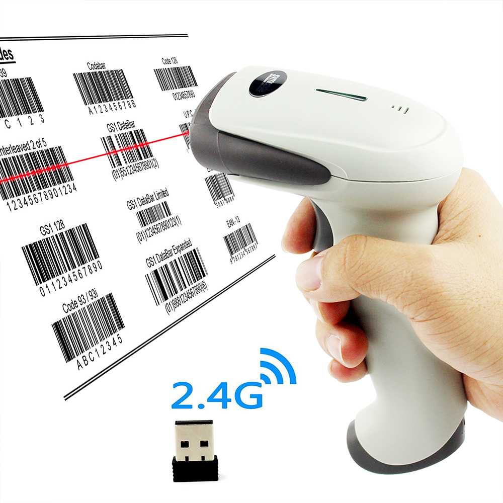 Symcode 1D 2.4G Wireless USB Barcode Scanner with 100Meters(330ft) Wireless Transfer DistanceSymcode 1D 2.4G Wireless USB Barcode Scanner with 100Meters(330ft) Wireless Transfer Distance