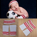 2015 Basketballer Design Baby Photo Props Cool Baby Hoopman Sweatband+Boothose Suit Infants Hand Knit Newborn photography props