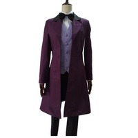2019 Custom made Anime Who is Doctor cosplay Dr. Long Trench Coat Costume Doctor Who Tailored Costume Halloween cosplay costume