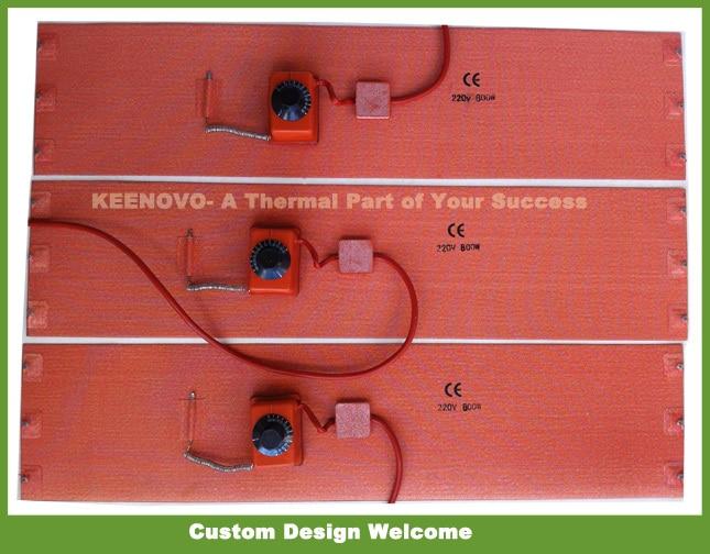200*860mm elastyczne silikonowe grzejnik bębnowy Keenovo krzemu grzejnik z gumy 20 litrów bębny 1 rok gwarancji i certyfikowany, darmowa wysyłka w Elektryczne poduszki grzewcze od Dom i ogród na  Grupa 1