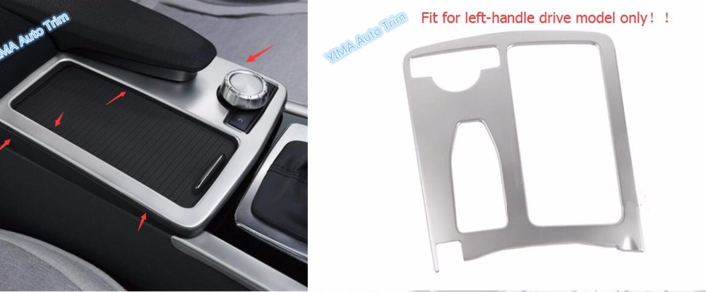 For Mercedes Benz C-Class C CLASS W204 C180 C200 2011 - 2014 Water Cup Holder Frame Panel Multimedia Decoration Cover Trim 1 Pcs 1 pcs right side 2048202256 front fog lamp with bulb bumper light for mercedes benz c class w204 2006 2011
