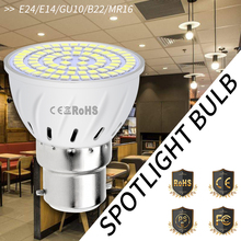цена на E27 220V Spotlight Bulb E14 Led Corn Lamp SMD 2835 GU10 Spot Led Bombillas B22 5W 7W 9W Ampoule Led Indoor MR16 Lighting Ceiling