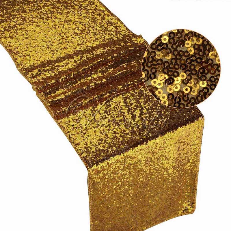 30x180 см/30x275 см блестящие розово-золотые блестки Настольная дорожка для Свадебная вечеринка Рождество Настольная дорожка украшение скатерти - Цвет: gold