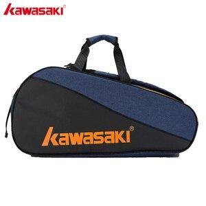 Image 1 - 2019 Kawasaki Honor Serie Badminton Tas Grote Capaciteit Racket Sporttas Voor 6 Badminton Rackets Met Twee Schouders KBB 8641