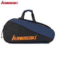 Kawasaki Bolsa de bádminton serie Honor, bolsa deportiva de gran capacidad para 6 raquetas de bádminton con dos hombros KBB 8641, 2019