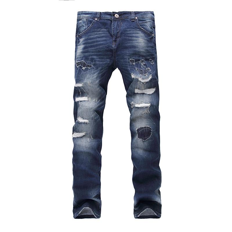 NEW New Designer Mens Skinny Jeans Hole Men Jeans Denim elastic slim biker Moto Hiphop washed Casual Pants mens ripped jeans new mens jean design balm biker jeans slim stretch straight denim pants jeans ripped elastic skinny motorcycle men jeans 550 7