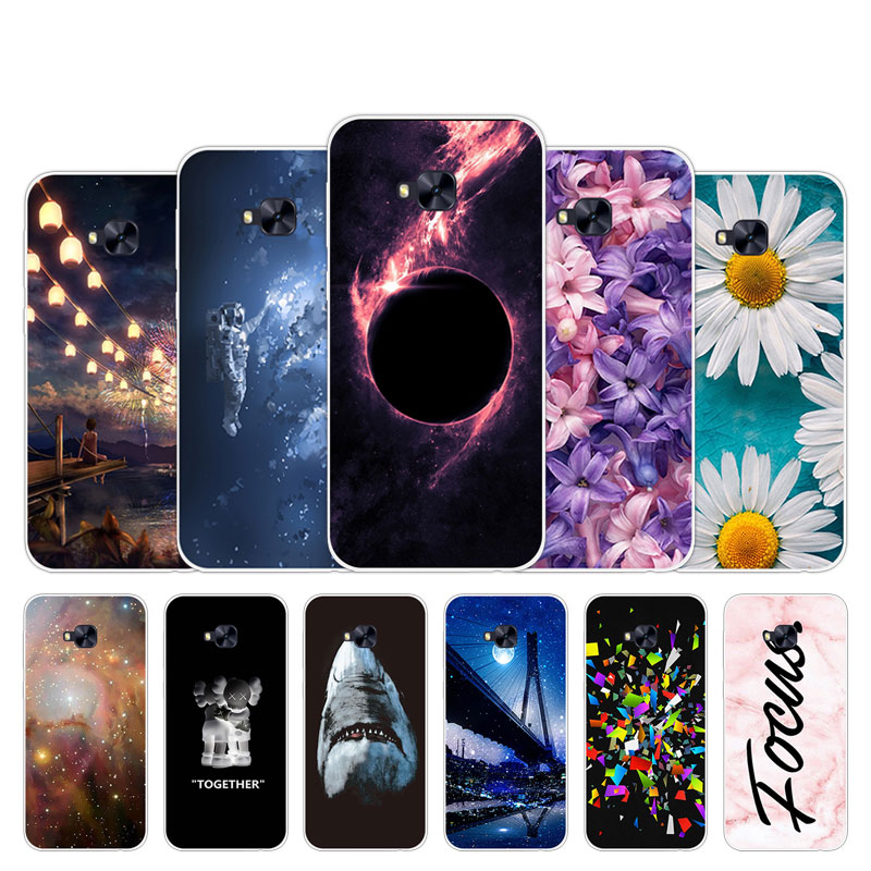 For <font><b>Asus</b></font> <font><b>ZenFone</b></font> <font><b>4</b></font> <font><b>Selfie</b></font> ZD553KL Cover Chrysan Design Shell Soft Silicone TPU Fundas Coque <font><b>4</b></font> <font><b>Selfie</b></font> <font><b>Phone</b></font> <font><b>Cases</b></font> 5.5 inch image