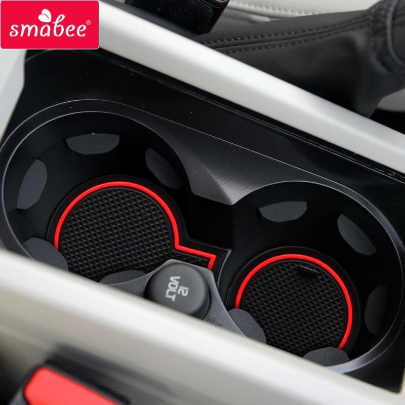 Smabee Anti-Slip Gate Slot Mat For VOLVO V40 2013 ~ 2018 V40CC CC Cross Cup Holders Non-slip Mats Rubber Coaster Accessories