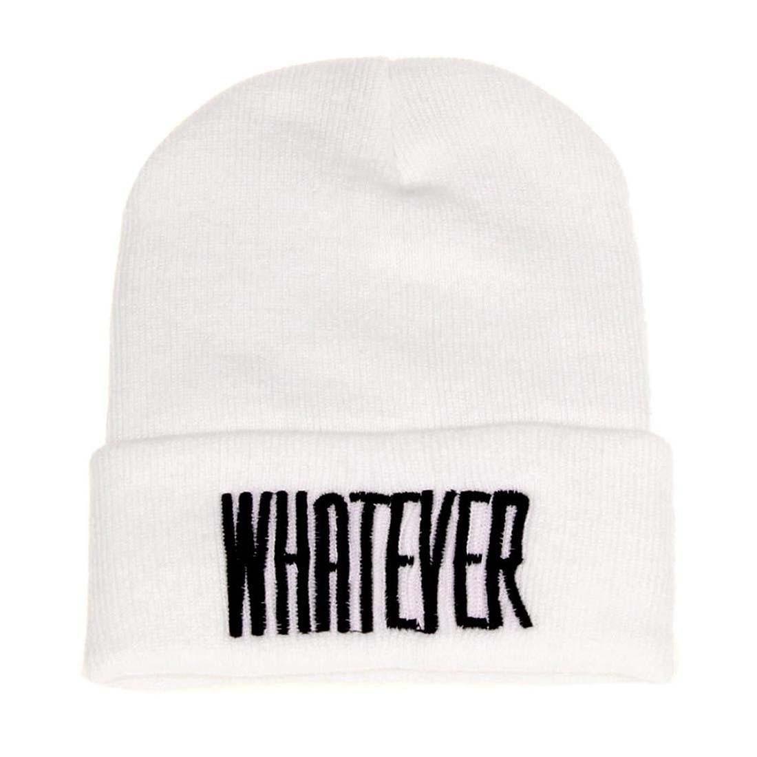 New Winter Whatever Beanie Hat And Snapback Men And Women Cap (White) shocking show 2016 new design winter black whatever beanie hat and snapback men and women cap