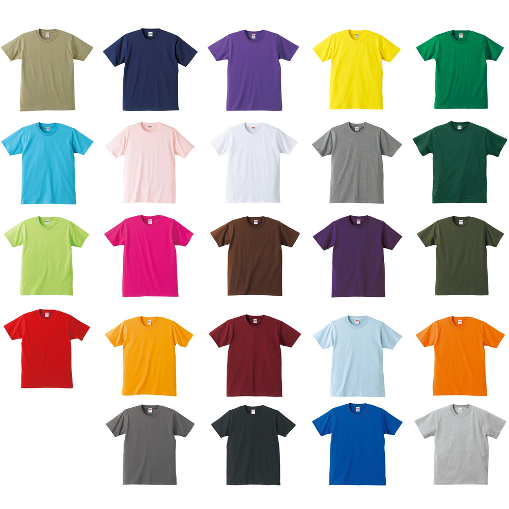 Men 39 s solid color t shirt loose cotton round neck short for One color t shirt
