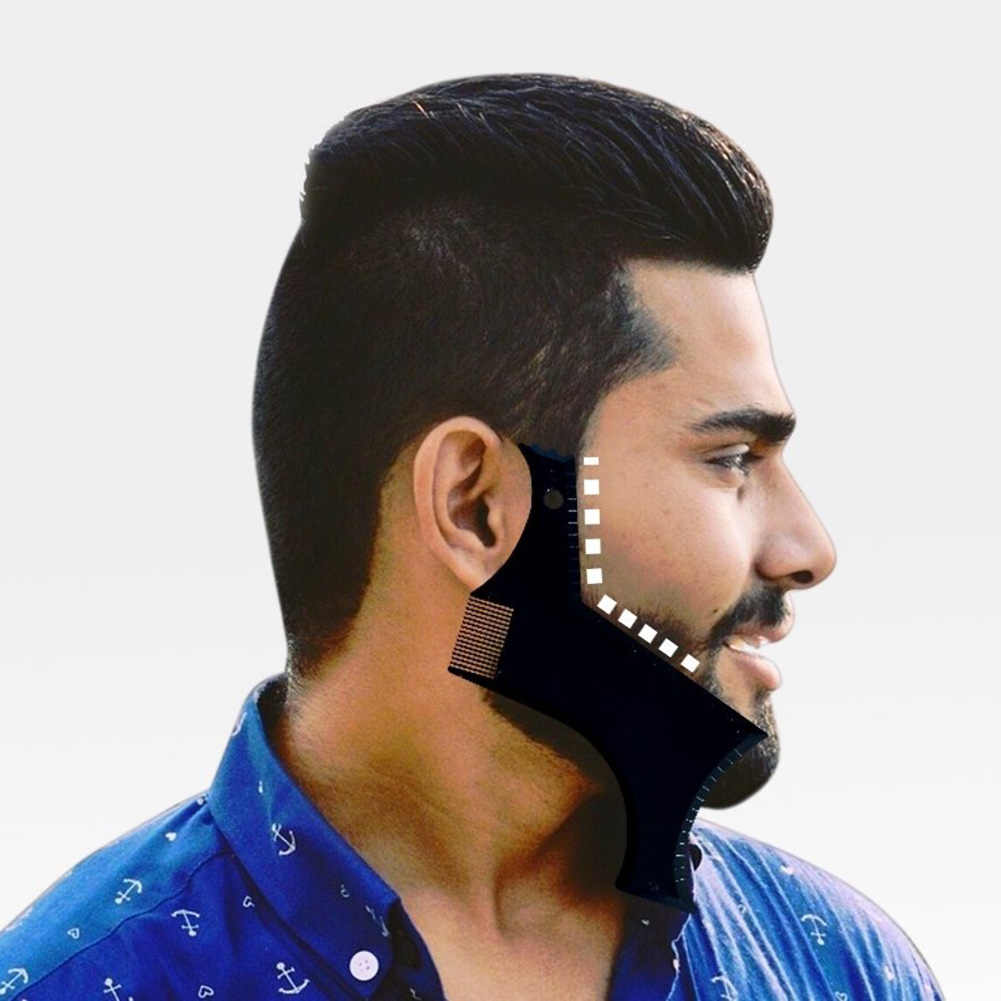1 Pcs Symmetry Trimming Beard Shaper Styling Shaping Template Comb Barber Tool QS888