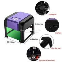 1.5W USB Desktop Laser Engraver Machine DIY Logo Mark Printer Cutter CNC Laser Carving Machine 80x80mm Engraving Range