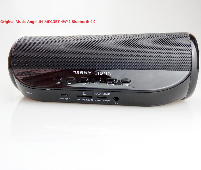 Music Angel JH-MD13BT 4W*2 Bluetooth 4.0 Wireless Radio Speaker with FM TF SD Card slot Speaker Handsfree Call, Download 2017 hot levitating jh angel of music fd19 portable wb 46 wireless bluetooth speaker with microphone for iphone and pad