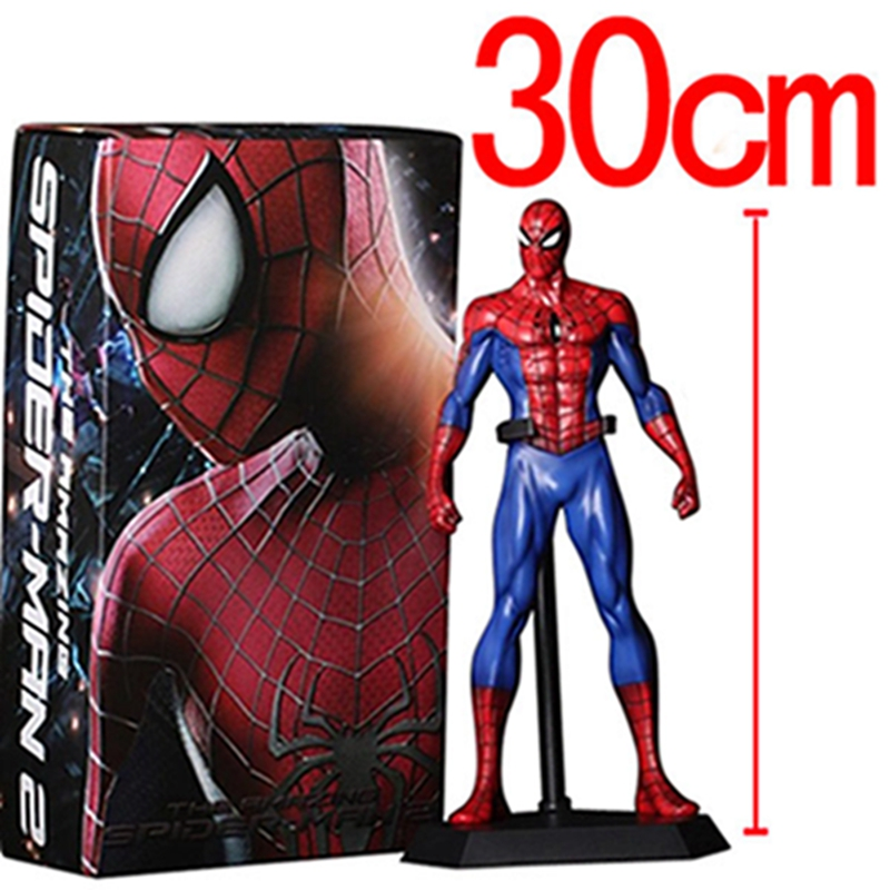 Movie The Avengers Spider man PVC Action Figure Collectible Model Toy for Children Birthday gifts free shipping the avengers the amazing spider man movie spiderman will light 17cm pvc action figure toys new christmas gifts