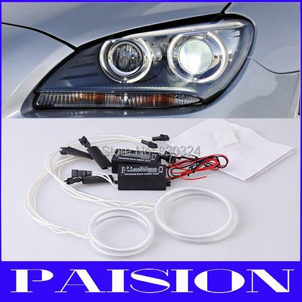 Car Ccfl Angel Eyes Halo Ring Kit For Hyundai Elantra 04 06 Headlight With 4pcs Rings And 2pcs Inverters