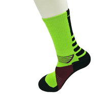 Men Women Socks Green Basketball Sports Climbing Running Unisex Towel Bottom Free Size for EU37-45/US6-10,Item:BS06