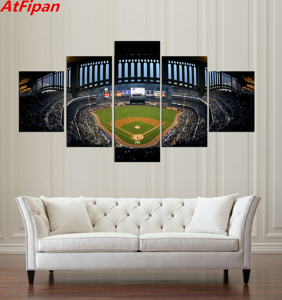 Atfipan 5 pieces new york yankees yankees stadium modern for Modern home decor new york