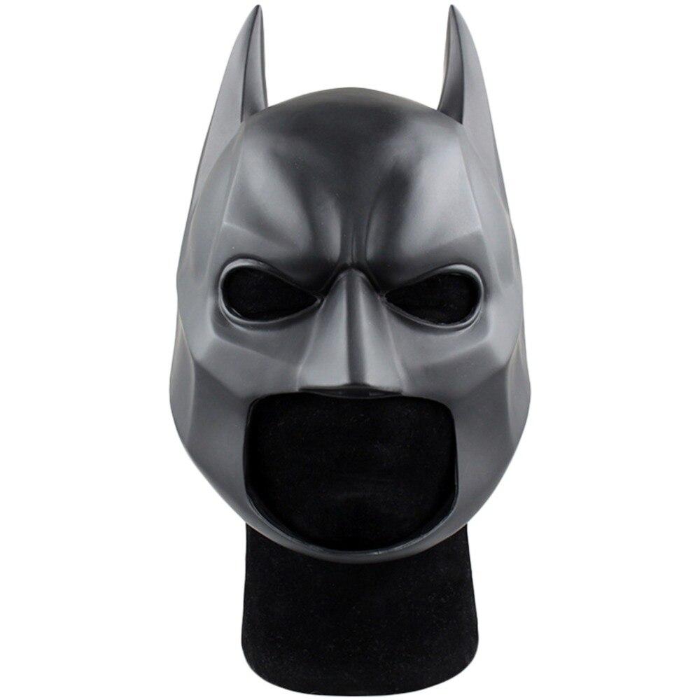 Movie The Dark Knight Batman Helmet PVC Flexible Mask Fancy Ball Cosplay Accessory Prop Mask headwear